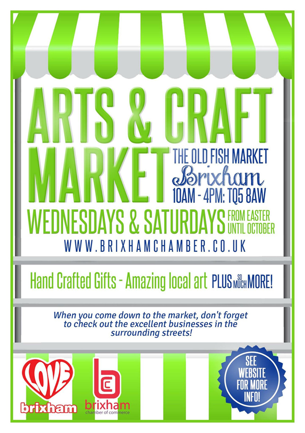 Art and craft market brixham chamber for Arts and crafts industry