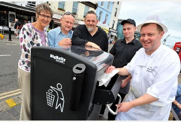 Brixham wants BigBelly bins back