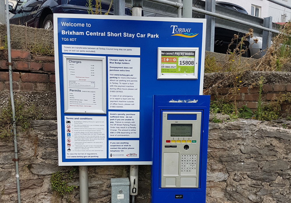 New parking charges from November 1