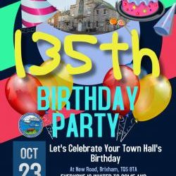 Brixham Town Hall – 135th Birthday Party